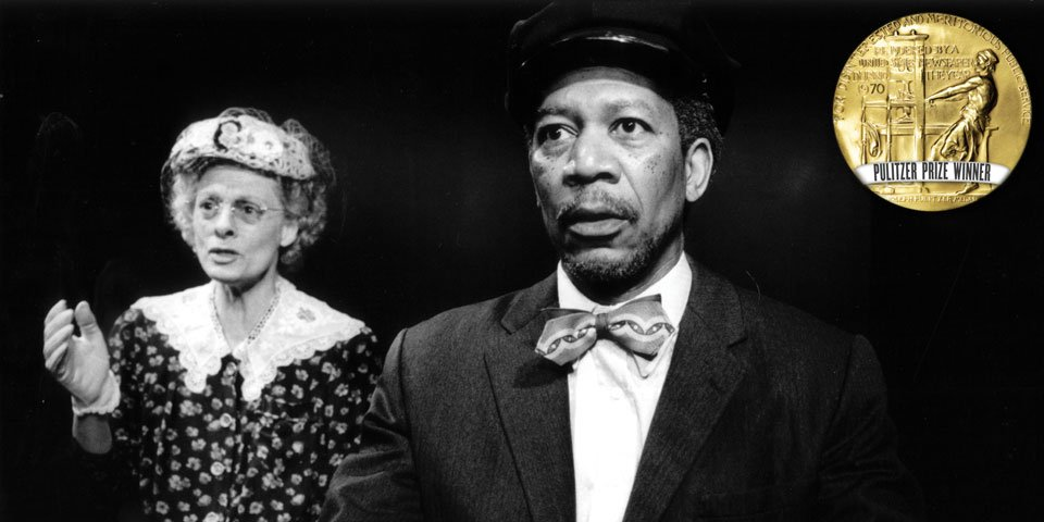 Dana Ivey and Morgan Freeman in Driving Miss Daisy by Alfred Uhry