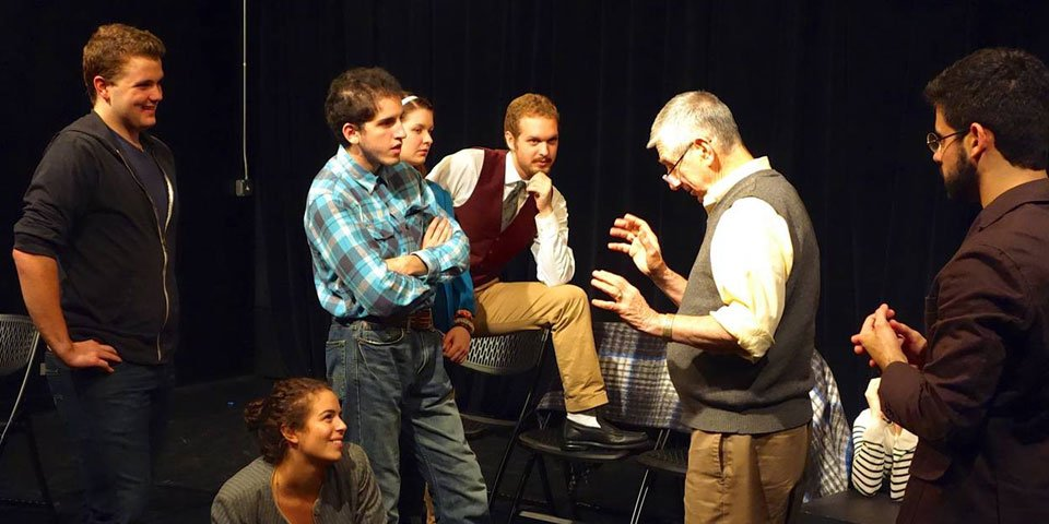 Playwrights Horizons Founder, Robert Moss & PHTS students