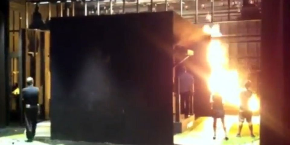Fire test on the set of DETROIT