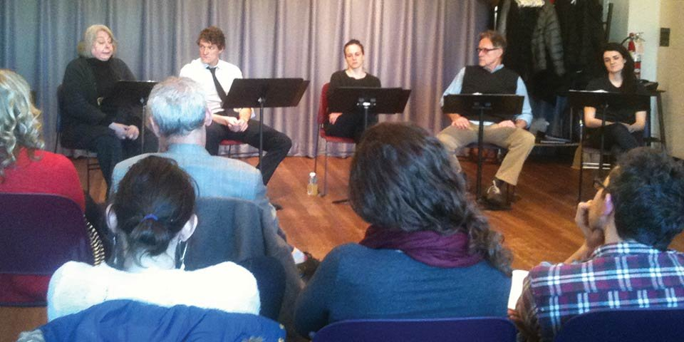 Reading of MIDDLEMAN by Carly Mensch.  Photo by Sarah DeLappe.