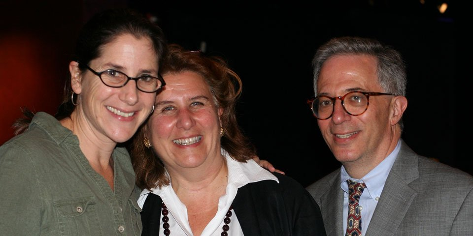 Director Anne Kauffman with Patrons Jody Falco and Jeffrey Steinman.