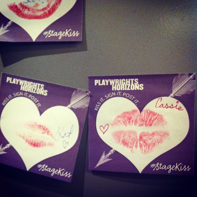Immortalized in lipstick #StageKiss @phnyc