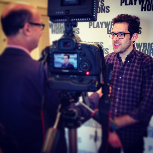 @adamchanlerberat interviewed by @broadwayworld's Richard Ridge at #FlyByNightPH's 1st rehearsal!