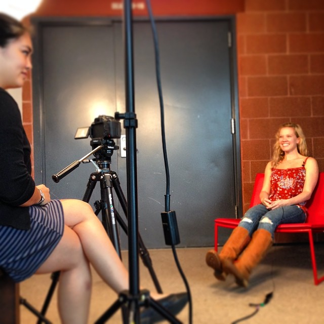 Recording a video interview with the divine @pattimurin!  #flybynightph