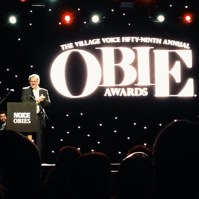 And @conjohnlee is awarded an Obie for his performance in #WatsonPlay! #ObieAwards