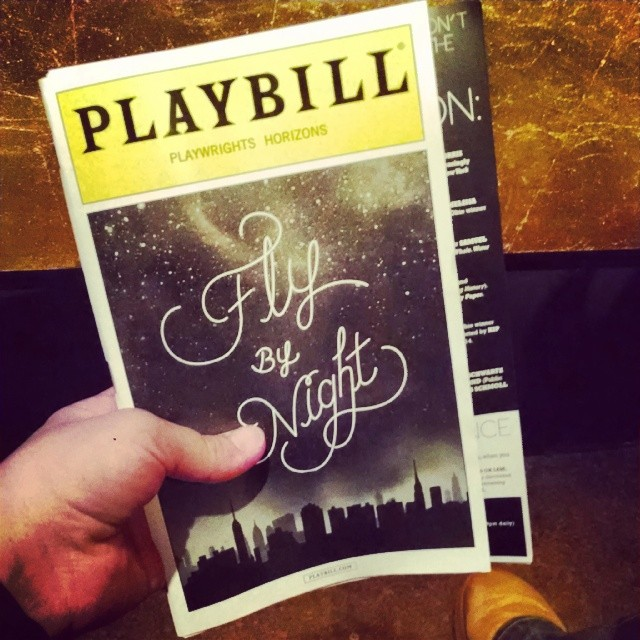 So good! #flybynight #offbroadway #intermission #nyc