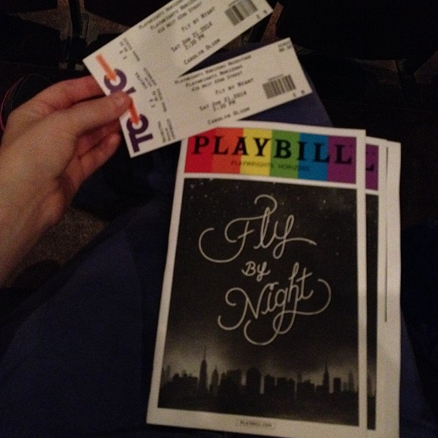 Seeing Fly By Night with my mom. #offbroadway #flybynight #playwrightshorizonsmainstage #theatre #nyc #flybynightph
