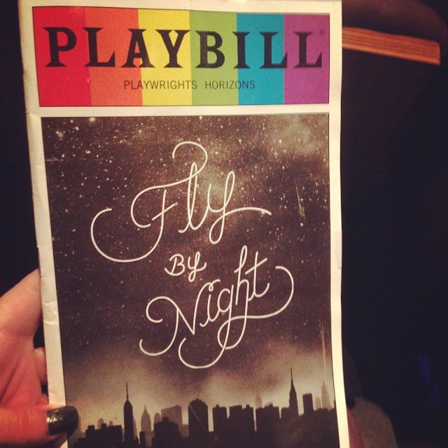 Fly By Night opening here @phnyc and look it's a Pride Playbill! #flybynightph #finalopening