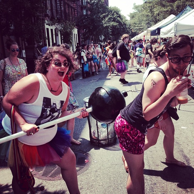 We'll do anything for our art #bootycandy #nycpride