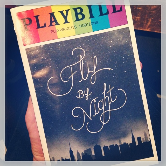 Fly By Night! #playwrightshorizons #flybynight #theatre #playbill #nyc #broadway #offbroadway
