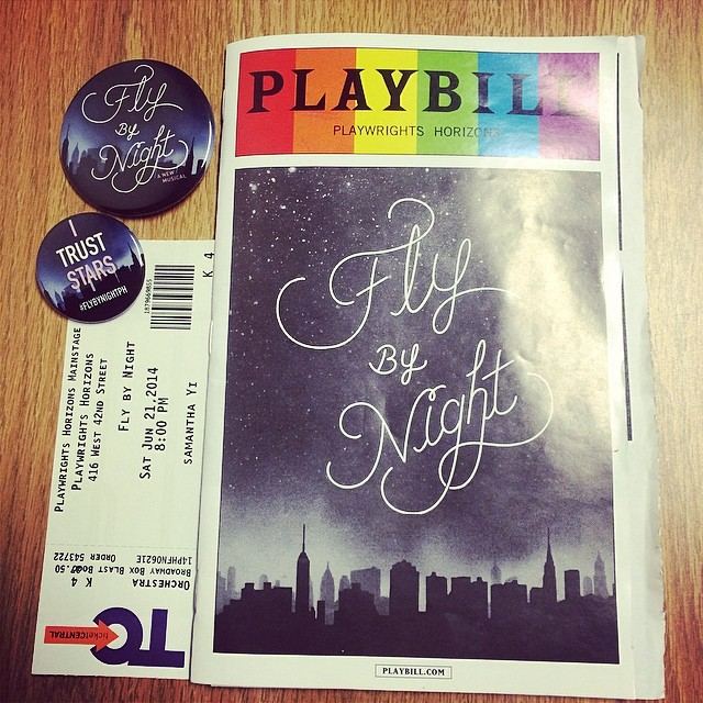MUST-SEE. #flybynightph #offbroadway #musicals #theater #ny #playbill