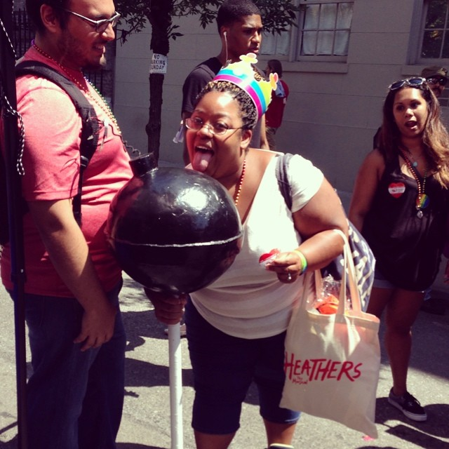 Work that #bootycandy!  We'll be on Horatio betw W4th and Hudson all day!  #nycpride