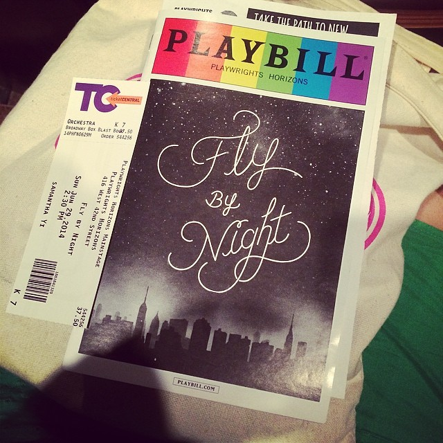 Seeing #FlyByNightPH again. Love this show. Glad to see it! @PHnyc