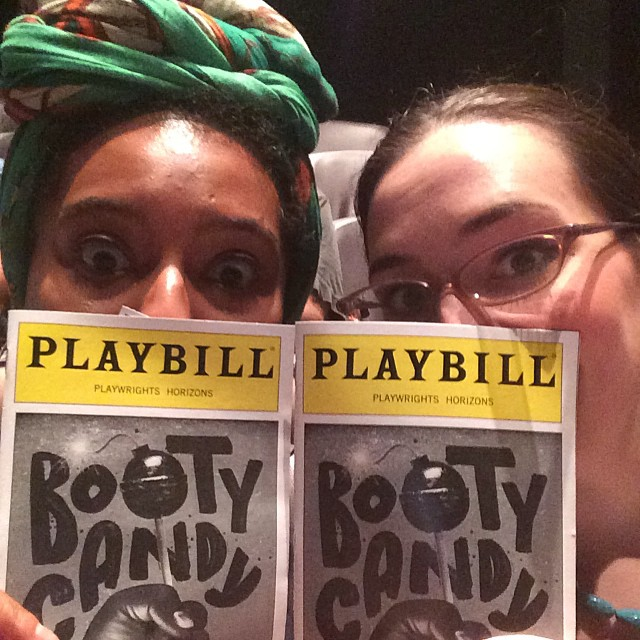 #bootycandy with @tverl !! #hidingbehindplaybills #playwrightshorizons