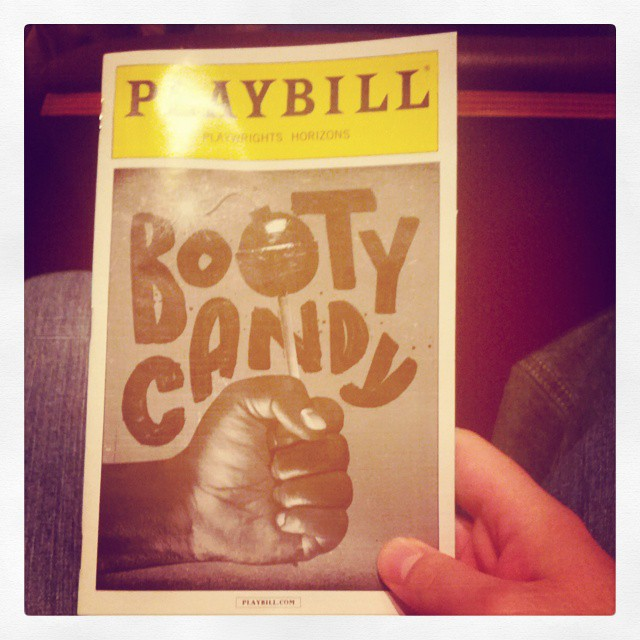 Best play title I've been to.  #offbroadway #bootycandy #playwrightshorizons