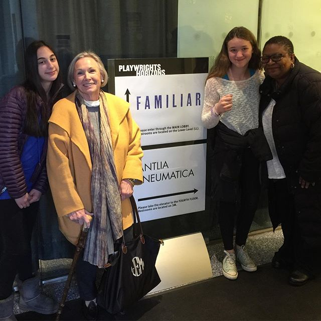 Aspiring actress Nadine, Jane, & Evelyn with the amazing Myra Lucretia Taylor following another brilliant performance in #FamiliarPH