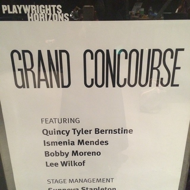 I'm about to see #GrandConcoursePH featuring fellow Brown alum Quincy Tyler Bernstine! Very excited. @phnyc