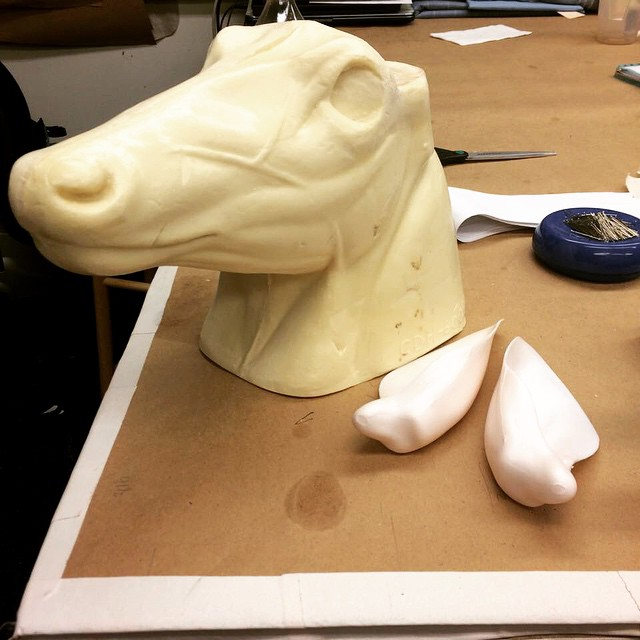 The beginnings of a horse head. #IowaPH