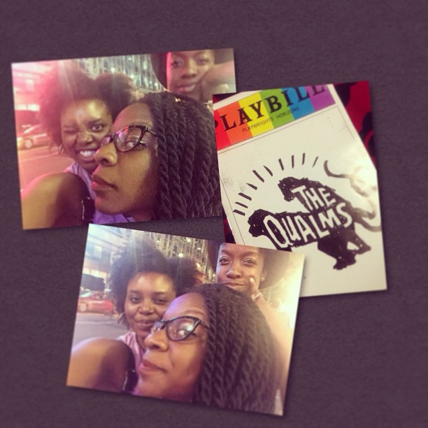 Sister date!!!!! Fun times in #timessquare #TheQualms #PlaywrightsHorizons #weekendmadness @ayo_oneke @chrishabrown #photogrid @photogridorg