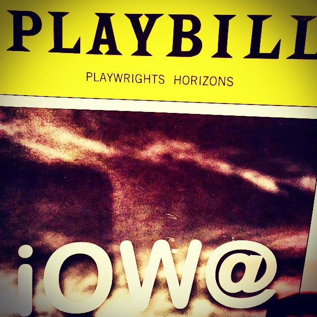 Seeing iOW@ tonight. And this Iowan is kinda excited! #PlaywrightsHorizons #Iowa #IowaPH