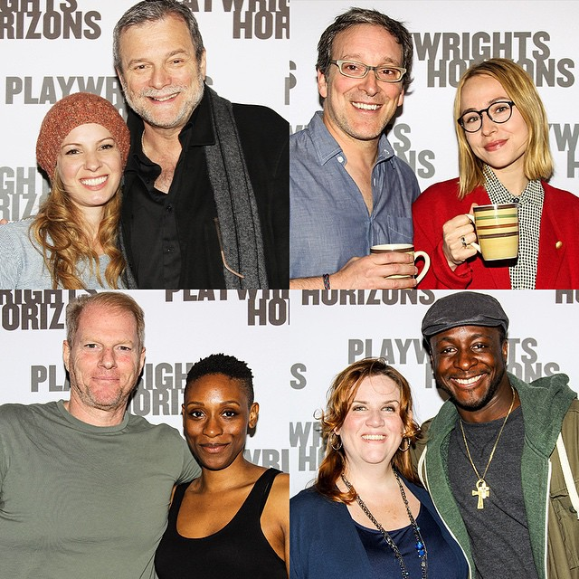 The couples. #TheQualms.\n\nL to R: Kate Arrington and John Procaccino, Jeremy Shamos and Sarah Goldberg, Noah Emmerich and Chinasa Ogbuagu, Donna Lynne Champlin and Andy Lucien.