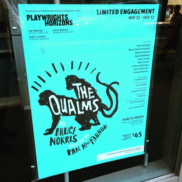 Excited to see the newest Bruce Norris play! #thequalms