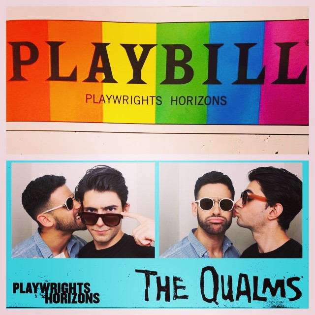 Not sharing today #hesallmine #thequalms #playwrightshorizons #qualitytheater #pride