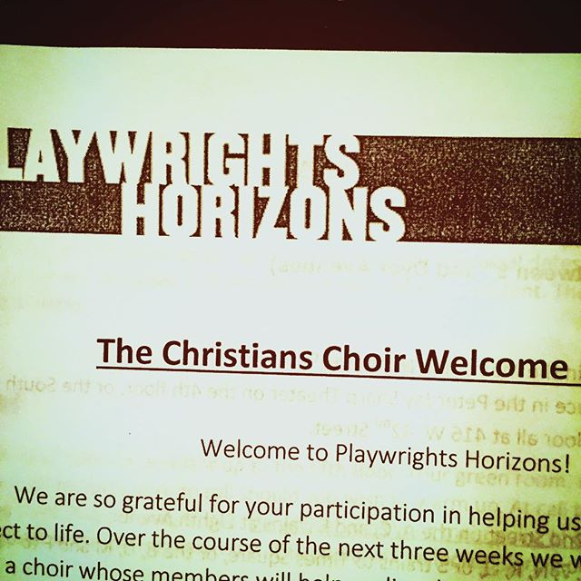 My goodness I have missed singing in a choir. Here's to my first time on the @phnyc stage! Singing even! #TheChristiansPH