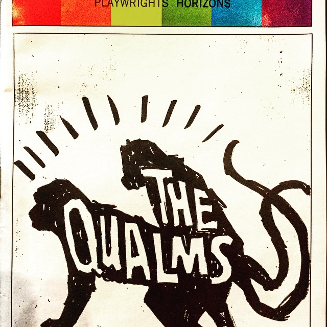 Play number one if a three play weekend: #TheQualms at #PlaywrightsHorizons