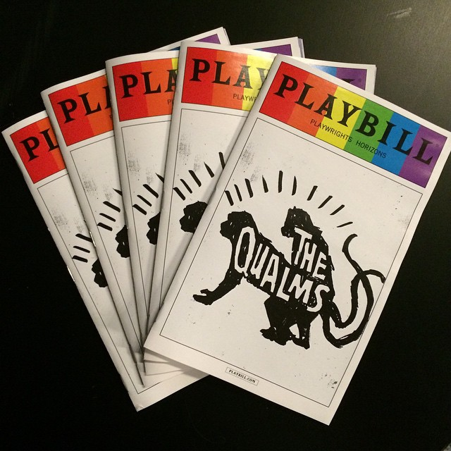 Nothing like some #playbillpride to spruce up #TheQualms.