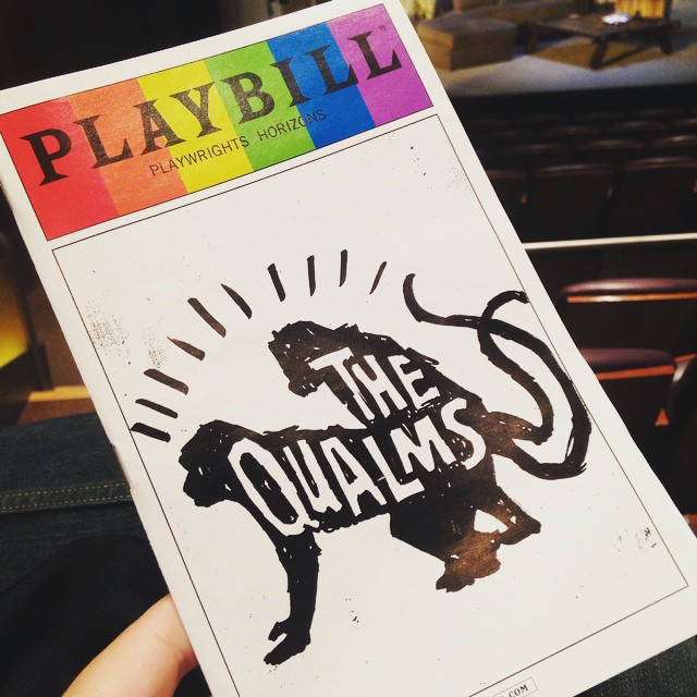 Couple swaps and this cover. I'm okay with it. #TheQualms #PlaywrightsHorizons #theater #offbroadway