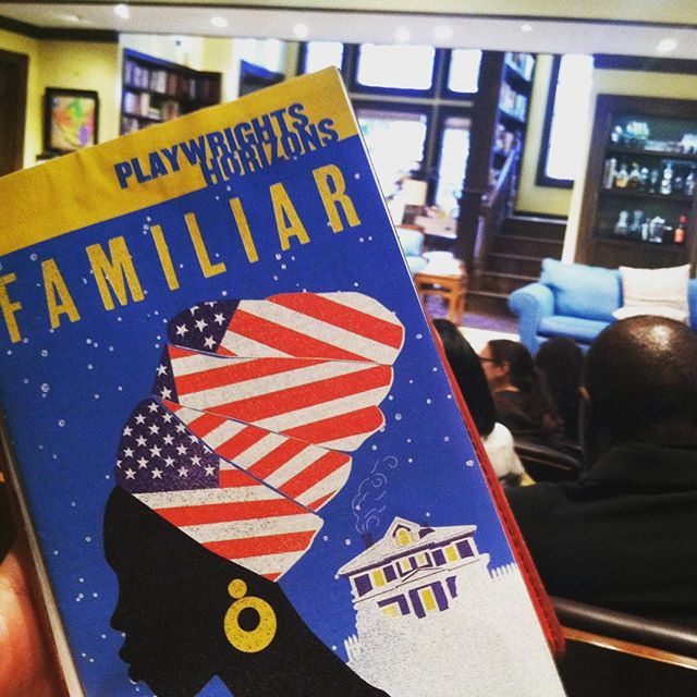 Me and the glorious @alexaallein don't have time to formally boycotting the Oscars, but we are supporting some downright hysterical theatre by the incredible @danaigurira at @phnyc. God, #FamiliarPH is so damn good. End of Act One squeals.