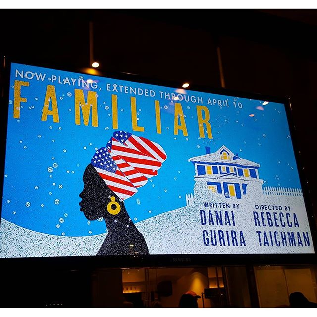 "FAMILIAR is an EXTRAORDINARY new play @PHnyc by playwright & actress (""The Walking Dead"") @DanaiGurira who also is currently represented on Broadway with her equally- exceptional play @EclipsedBway...a REMARKABLE accomplishment! At its  core this stunning, multi-layered play is about familial conflict but also taps into race, respect, forgiveness, understanding, acceptance, misdirected-anger, love, heritage and more. It reinforces that no matter where you're from, at heart, every culture can seem familiar. Flawless direction and an incredible cast & production: #FamiliarPH is a must-see."