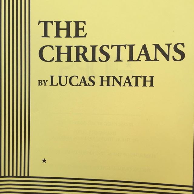Just read the play I get to sing in as a member of the choir. Woah. #TheChristiansPH #Choir #LucasHnath #Woah