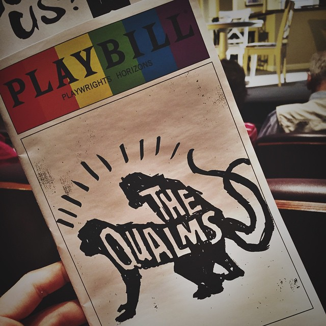 gotta love unexpected trips to the theatre #playwrightshorizons #THEQUALMS #offbroadway #theatre #playbill #SmittyAtTheTheatre #pridebill