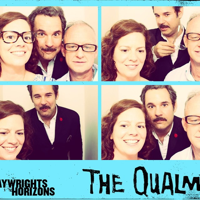 We failed to understand the photobooth instructions and it all fall apart after picture 1. If you're in New York, go see #TheQualms!
