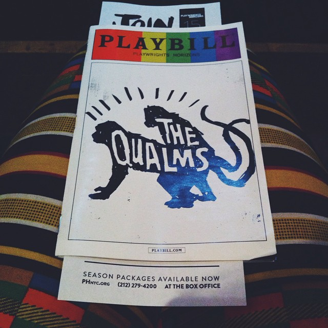 #BacheloretteParty weekend begins w #theQualms, a play where a swingers group muse about the purpose of marriage. Ha! Thanks @michdarb @phnyc