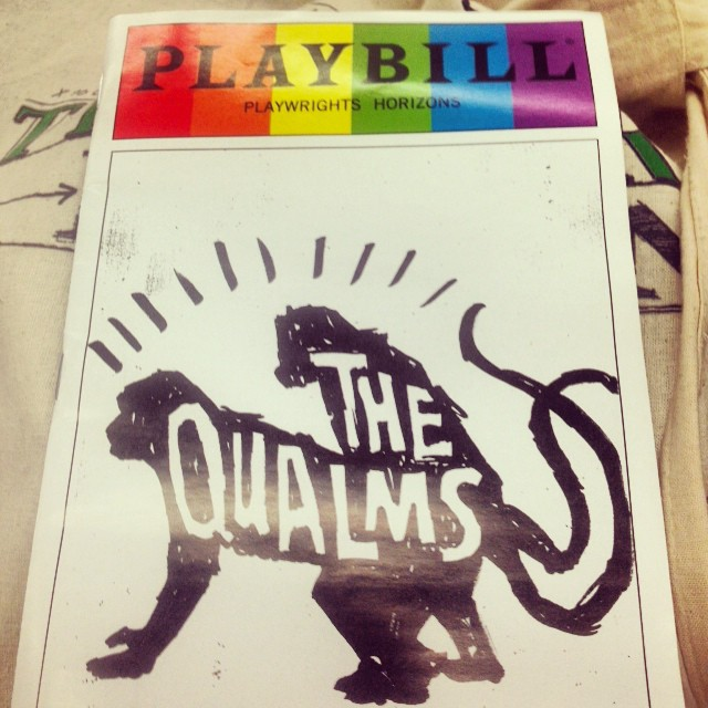 #TheQualms, the perfect show for someone who is newly engaged! #monogamyisdead? I dunno... Pass the banana pudding. @phnyc