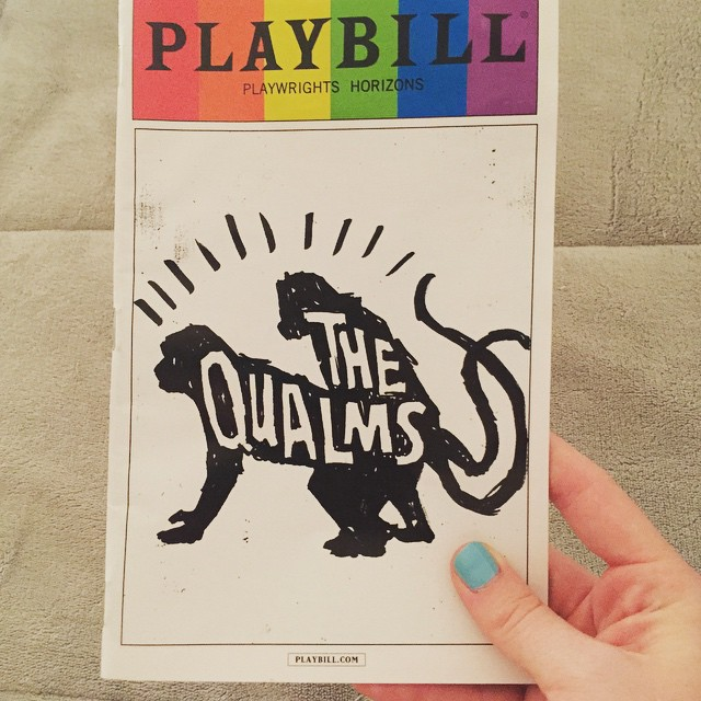 A fitting show for my first #PridePlaybill of the year. #TheQualms