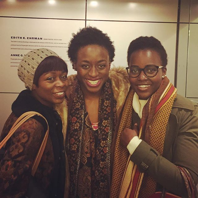 Another amazing night hanging with these two #sistersfromanothermister after the show! What an amazing time for African women in American theatre! @danaigurira thank you for giving us a voice @phnyc #FamiliarPH @eclipsedbway #latergram @ladyzjah @lupitanyongo