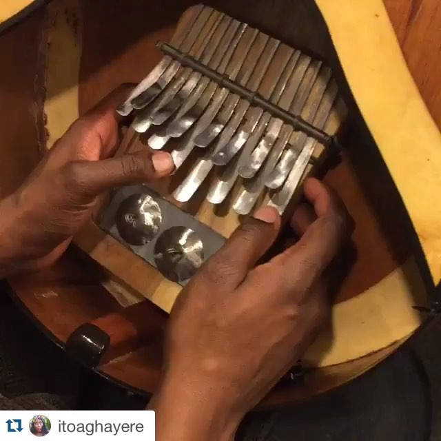 @itoaghayere jamming on the mbira in preparation for #FamiliarPH