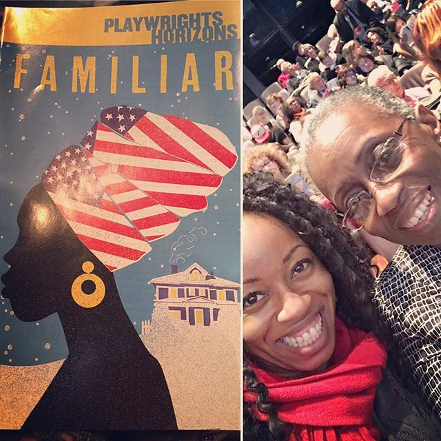 Such a joy to see #FamiliarPH with my supermodel mom last night @phnyc #latergram #nytheatre #actorslife