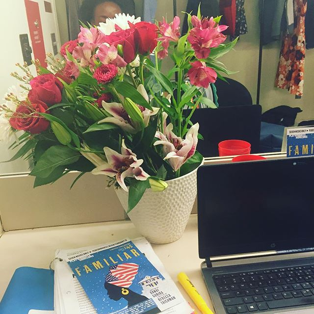 My dressing room is so much prettier because of you @susan_rategan @clrategan #sograteful to have you guys and Stephi in the audience tonight for the first show! #herewego #previews #thecreativelife #familiarPH