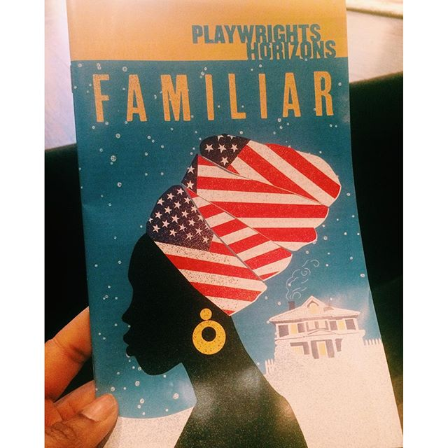 One of my goals for this year was to see more plays, so tonight I decided to spontaneously treat myself to #danaigurira's new play #treatyoself  #selflove #playwrightshorizons #familiarph