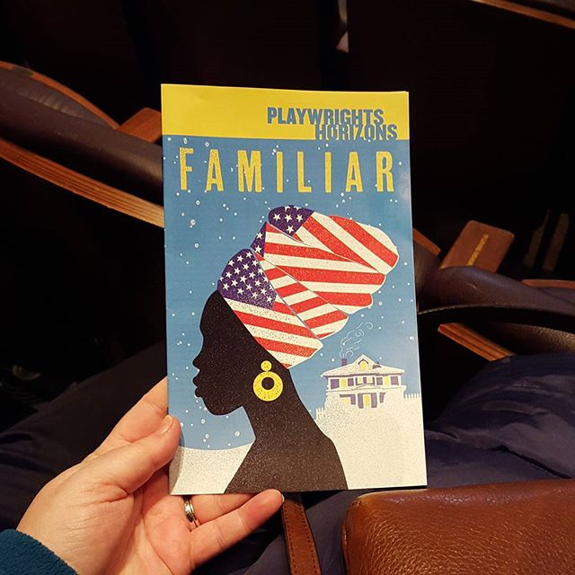 Keeping warm...at the theatre.\n\n#theatrewithJandB #offbroadway #FamiliarPH #theatre #babyitscoldoutside #nyctheatre #saturdaynightinthecity #playwrightshorizons