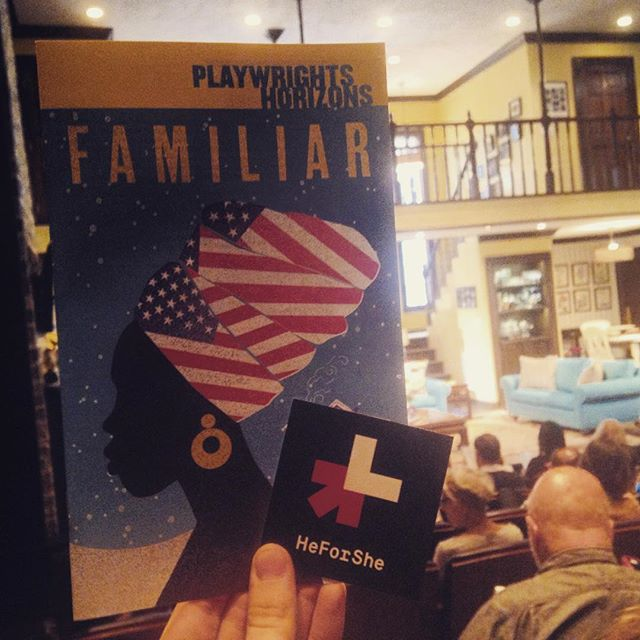Thank you #FamiliarPH @phnyc For a beautiful, thought provoking production and for being a partner of #HeForShe #ArtsWeek