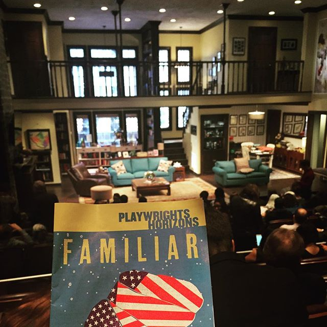 Opening night of Familiar and it is \U0001f44f\U0001f44f\U0001f44f!! Myra is incredible!! #familiarph #playwrightshorizons