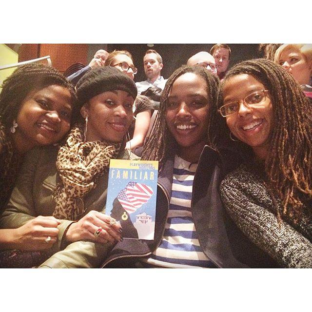 So, I spent last Sunday night with these lovely women, witnessing soul-filling, life-affirming and challenging performances all through @danaigurira 's new play #FamiliarPH at #PlaywrightsHorizons. Then afterwards, we spent almost a good 2 hours in the middle of Times Square laughing, sharing, debating, brainstorming... #FamiliarPH got us all riled up in a most excellent way. #FamiliarPH is a profound work that just won't let go. Run, and don't miss this in March!