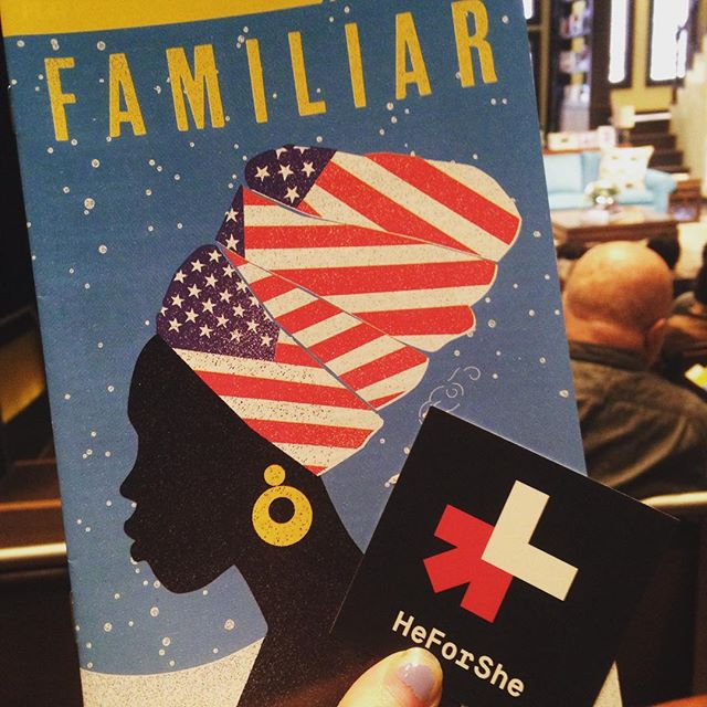 So excited to be seeing #FamiliarPH for #HeForShe #ArtsWeek! #HeForSheArtsWeek @heforshe @phnyc