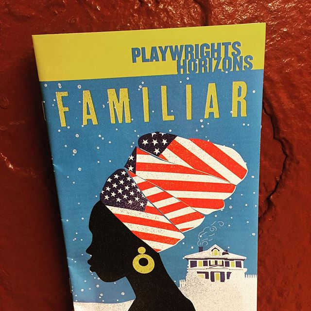 This is @danaigurira's world and we're just living in it #familiar #familiarph #danaigurira #playbill #playwrightshorizons #phnyc (#eclipsedbway in 2 weeks)